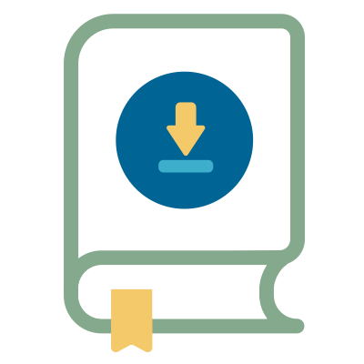 icon depicting ebook and lead magnet design
